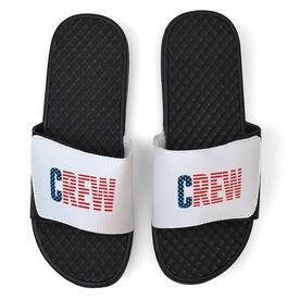 Crew White Slide Sandals - USA