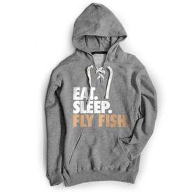 Fly Fishing Sport Lace Sweatshirt Eat. Sleep. Fly Fish.