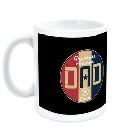 Soccer Ceramic Mug - Greatest Dad Stripes