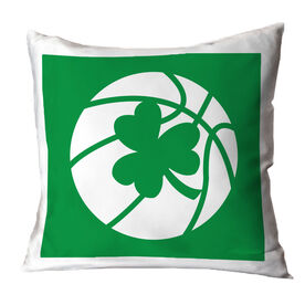 Basketball Throw Pillow Basketball Shamrock