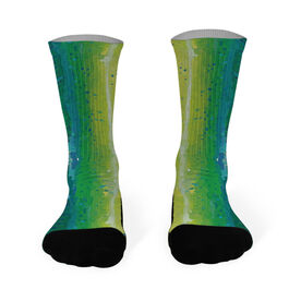 Fly Fishing Printed Mid Calf Socks Mahi-Mahi