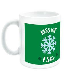 Skiing Ceramic Mug Kiss Me I