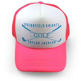 Golf Trucker Hat - Personalized Crest