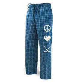 Hockey Lounge Pants Peace Love Hockey