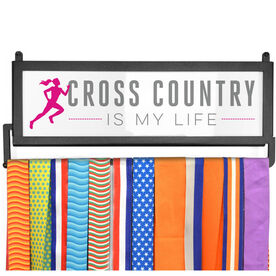 RunnersWALL Cross Country My Life (Female) Medal Display