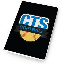 Softball Notebook Custom Team logo