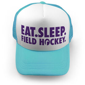 Field Hockey Trucker Hat - Eat Sleep Field Hockey