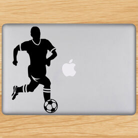 Soccer Guy Player Removable ChalkTalkGraphix Laptop Decal