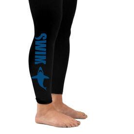 Swim Leggings Swimming With Sharks