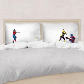 Softball Pillowcase Set - She Goes For The Home Run
