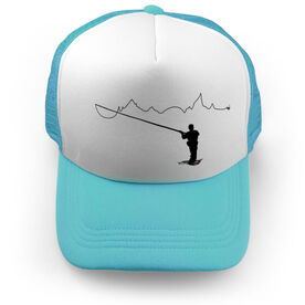 Fly Fishing Trucker Hat - When You Fish Nature Follows