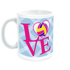 Volleyball Ceramic Mug Love