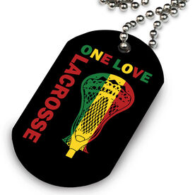 Guys Lacrosse Printed Dog Tag Necklace One Love Lacrosse