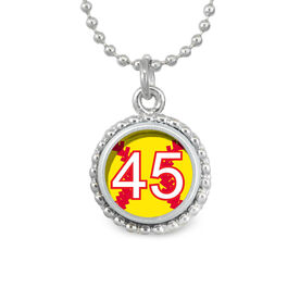 Softball Your Number SportSNAPS Necklace