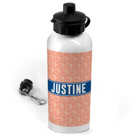 Basketball 20 oz. Stainless Steel Water Bottle Personalized Basketball Pattern