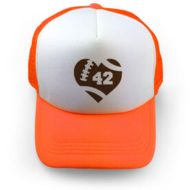 Football Trucker Hat At The Heart Of The Game