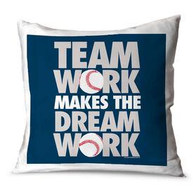 Baseball Throw Pillow Team Work