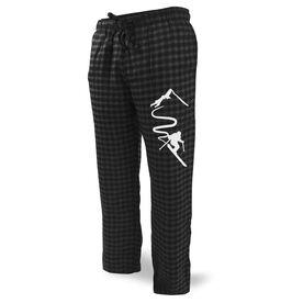 Skiing Lounge Pants - Skiing Down the Mountain
