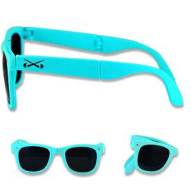 Foldable Field Hockey Sunglasses Crossed Field Hockey Sticks