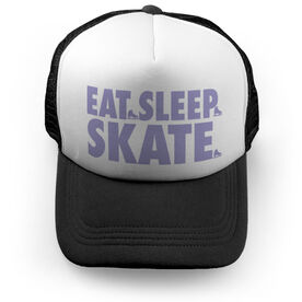 Figure Skating Trucker Hat - Eat Sleep Skate