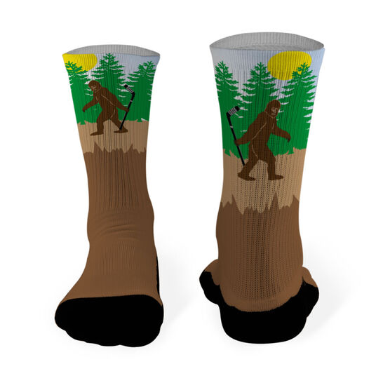 Hockey Printed Mid Calf Socks Bigfoot