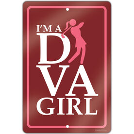 "Golf Aluminum Room Sign (18""x12"") I'm a Golf Diva"