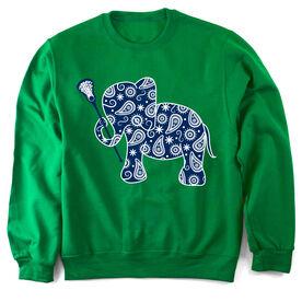 Girls Lacrosse Crew Neck Sweatshirt Lax Elephant