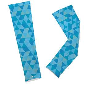 Running Printed Arm Sleeves Geometric Pattern