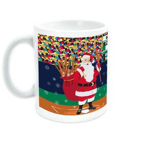 Baseball Ceramic Mug Santa