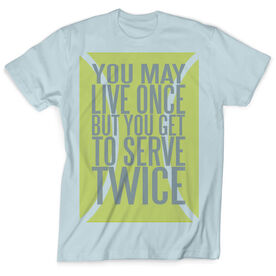 Vintage Tennis T-Shirt - You Get To Serve Twice Tennis Ball