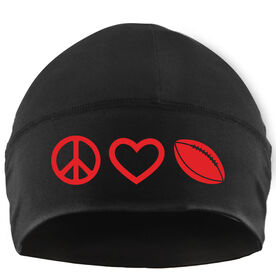 Beanie Performance Hat - Peace Love Football