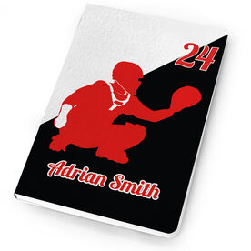 Baseball Notebook Personalized Catcher Silhouette