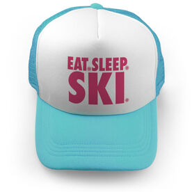 Skiing Trucker Hat - Eat Sleep Ski