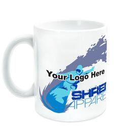 Skiing & Snowboarding Ceramic Mug - Custom Logo