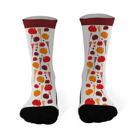 Lacrosse Printed Mid Calf Socks Lacrosse Turkey Pattern