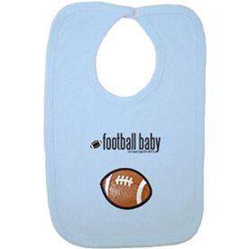 Football Baby Bib with Embellishment