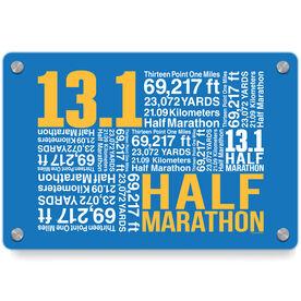 Running Metal Wall Art Panel - 13.1 Math Miles