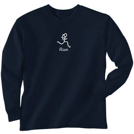 Youth T-Shirt Long Sleeve Run Girl