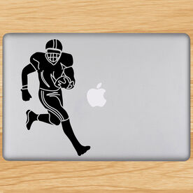 Football Player Removable ChalkTalkGraphix Laptop Decal