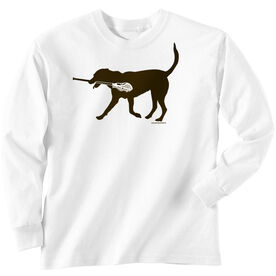 Guys Lacrosse Long Sleeve T-Shirt - Max The Lax Dog