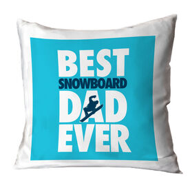 Snowboarding Pillow Best Dad Ever