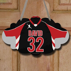 Lacrosse Cloud Room Sign Personalized Lacrosse Jersey