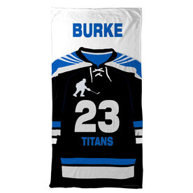 Hockey Beach Towel Personalized Jersey