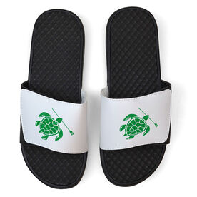 Crew White Slide Sandals - Turtle