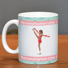 Figure Skating Ceramic Mug Custom Photo with Pattern