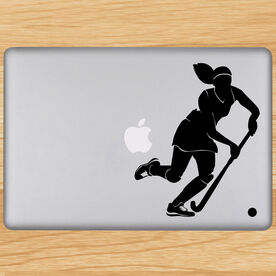 Field Hockey Field Hockey Girl Dribbling Removable ChalkTalkGraphix Laptop Decal