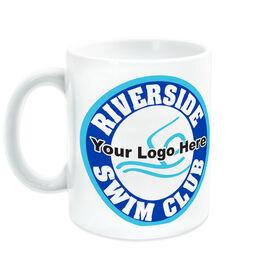 Swimming Ceramic Mug Custom Logo