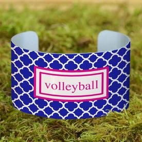 Volleyball Cuff Bracelet (Wide) Volleyball Quatrefoil