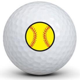 Softball Logo Golf Balls