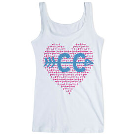 Cross Country Women's Athletic Tank Top CC Love